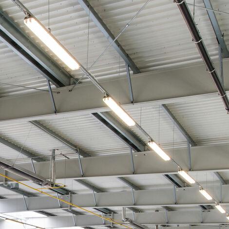 6x 48W LED Tubs Lights Plafond Tubes lumière du jour projecteurs entrepôt Halls Lampes