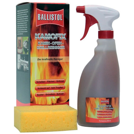 6x Ballistol KAMOFIX Kamin, Ofen- und Grill-Reiniger, 600 ml
