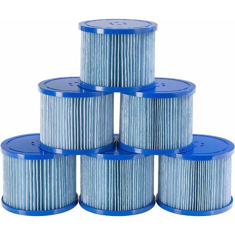 6x Cartouches filtrantes de remplacement antimicrobiennes pour les spas AREBOS.
