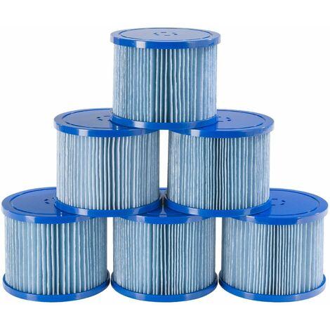 """main image of """"6x cartucce filtranti di ricambio antimicrobiche per vasche idromassaggio AREBOS Spa"""""""