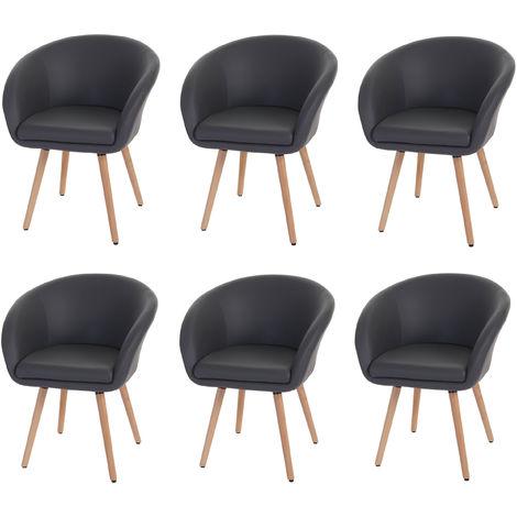 Chaise de salle à manger Malmö T633, fauteuil, design rétro