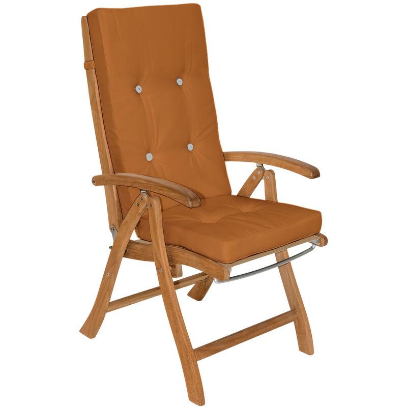 6x Coussins de chaise coussin chaise de coussin pour chaise à dossier haut Siège Brun