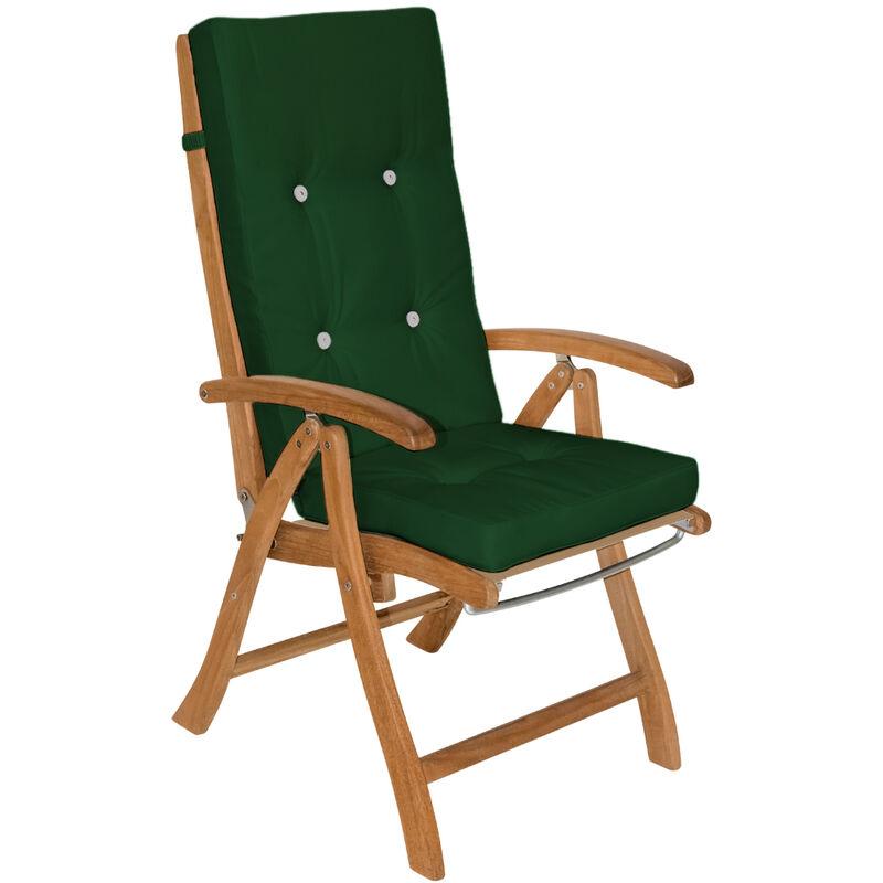 6x Coussins de chaise coussin chaise de coussin pour chaise à dossier haut Siège Vert