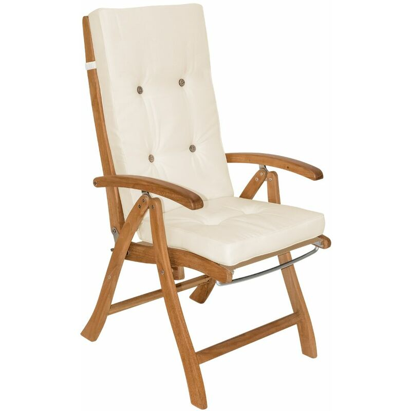 6x Coussins de chaise coussin chaise de coussin pour chaise à dossier haut Siège Crème