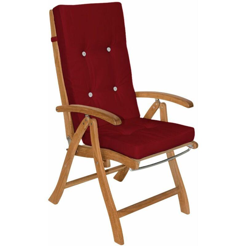 6x Coussins de chaise coussin chaise de coussin pour chaise à dossier haut Siège Rouge