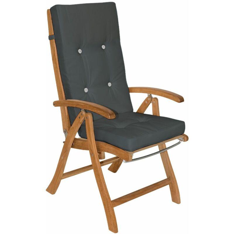 6x Coussins de chaise coussin chaise de coussin pour chaise à dossier haut Siège Gris