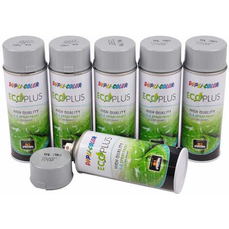 6x Dupli Color ECOPLUS Lackspray silbergrau auf Wasserbasis Sprühlack Sprühdose