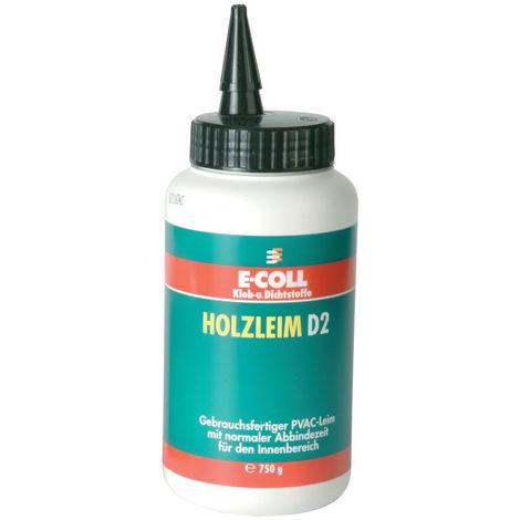 6x E-COLL Holzleim D2 750g Flasche