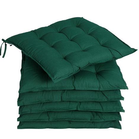 6x Garden Chair Cushion Cozy 55% Cotton Outdoor Patio