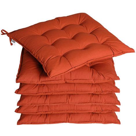 """main image of """"6x Garden Chair Cushion Cozy 55% Cotton Outdoor Patio"""""""