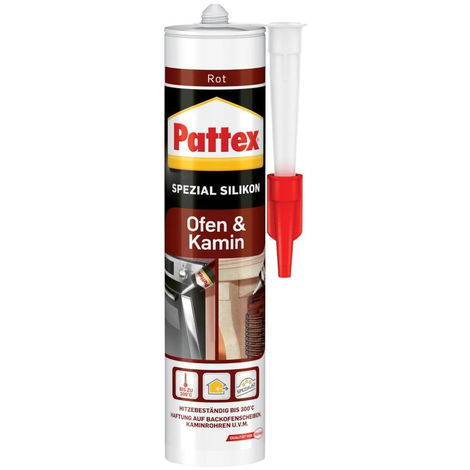 6x Henkel Pattex Ofen+Kamin Silikon300 ml, rot