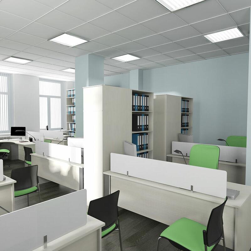 Etc-shop - 6er Set LED 40 Watt Decken Ein Aufbau Panel Leuchten Hotel Tageslicht ALU Strahler