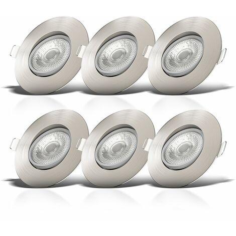 6x LED Einbauleuchte dimmbar Deckenlampe Einbauspots schwenkbar 5W Spot Strahler