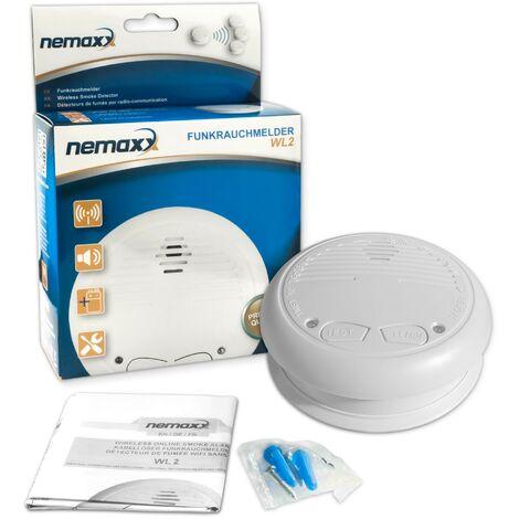 6x Nemaxx WL2 Détecteurs de fumée sans fil - conforme EN 14604