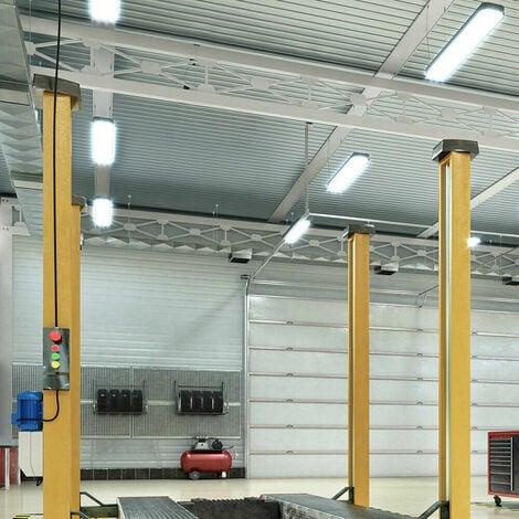 6x SMD LED luz diurna para bañeras ilumina taller industrial iluminación lámparas de techo garaje