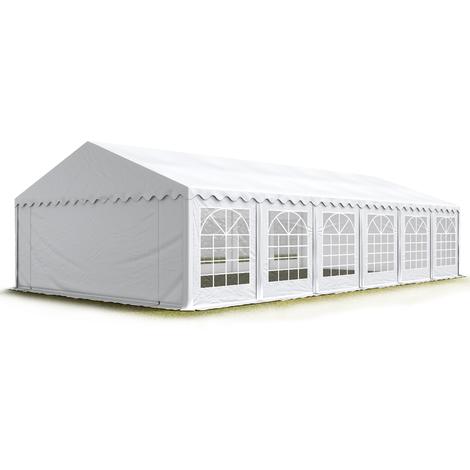 6x12 m Tente de réception/Barnum blanc toile de haute qualité 500g/m² PVC ECONOMY