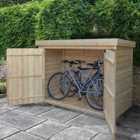 """6'x2'6"""" (1.8x0.8m) Forest Pressure Treated Overlap Large Pent Outdoor Store"""