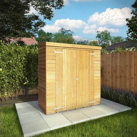 """6'x2'6"""" Waltons Overlap Pent Storage Unit"""