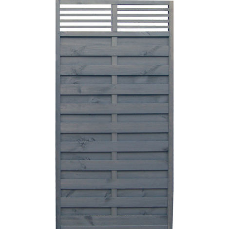 6x3 Sorrento Slat Top Panel ONLY AVAILABLE WITH A PURCHASE OF 3 FENCE PANELS