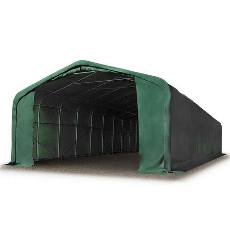 "main image of ""6x36m hangar INTENT24, porte 4,1x2,9m, toile PVC de 720, anti-feu"""