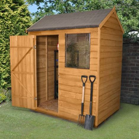 6'x4' Forest Reverse Apex Dip Treated Overlap Shed