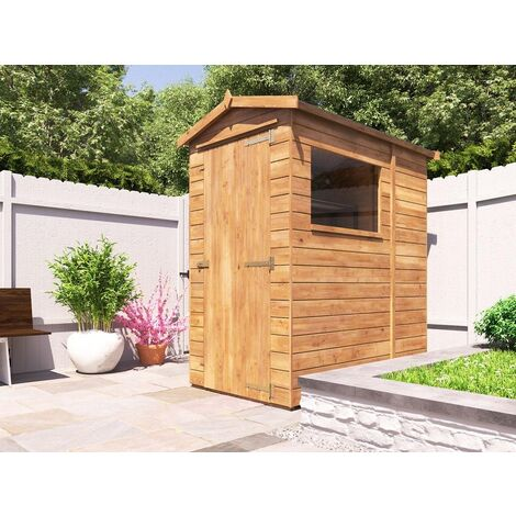 6x4 Garden Shed Shedrick - Pressure Treated Timber Garden Tool Storage Easy Build Roof Felt Included