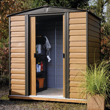 6x5 Woodvale Metal Apex Shed with Floor