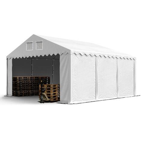 6x6m Tente de stockage INTENT24, PVC env. 550 g/m², H. 2,6m