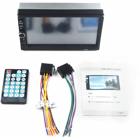 "main image of ""7"" 2DIN Autoradio Bluetooth ecran Tactile USB FM MP4 MP5 Lecteur Stereo In-Dash"""