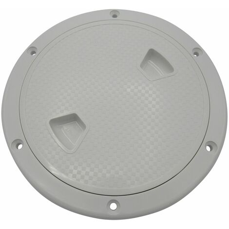 """main image of """"7"""" ABS White Plastic Deck Inspection Hatch - Round Cover Water Tight"""""""