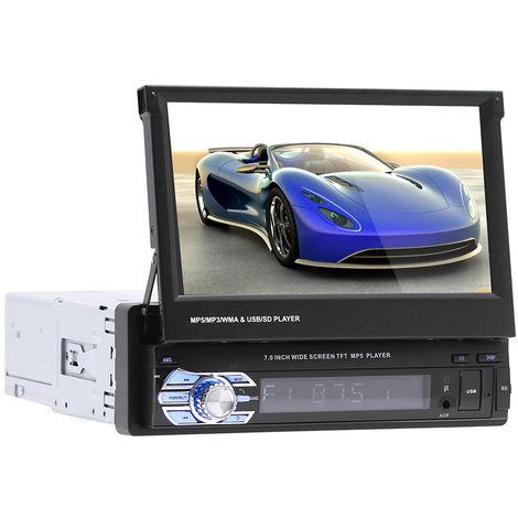 """7"""" Autoradio Bluetooth GPS Navigation voiture stereo lecteur MP5 Controle de l ecran tactile+8GB Carte SD+Camera de recul"""