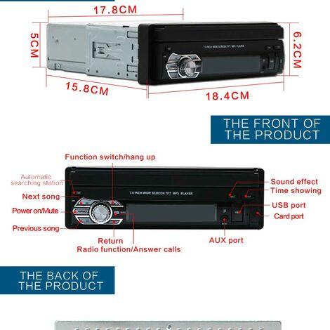 """7"""" Autoradio Bluetooth Navigation voiture stereo lecteur de musique FM Radio"""