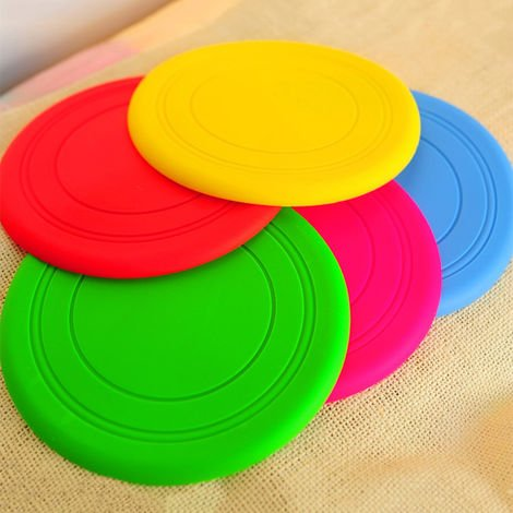 7 color optional dog soft flying disc toy pet training dog training table mat About 17.5CM random colors