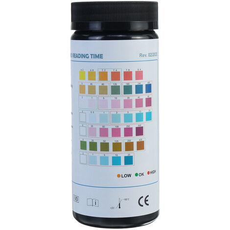 7 en 1 acuario pecera Kit de tira de prueba de agua tropical nitrito nitrato PH