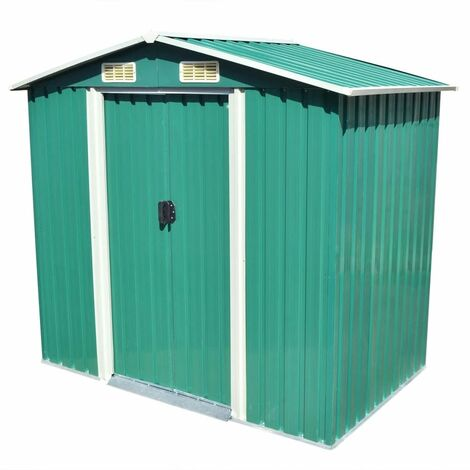 7 ft. W x 4 ft. D Apex Metal Shed by WFX Utility - Green