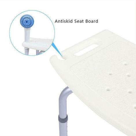 7 Gears Height Adjustable Elderly Bath Tub Shower Chair Bench Stool Seat