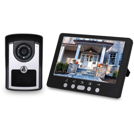 """main image of """"7 inch Monitor HD Camera Video Door Phone Doorbell Intercom System IR Night Vision Wired Doorbell Camera,model: UK Plug"""""""