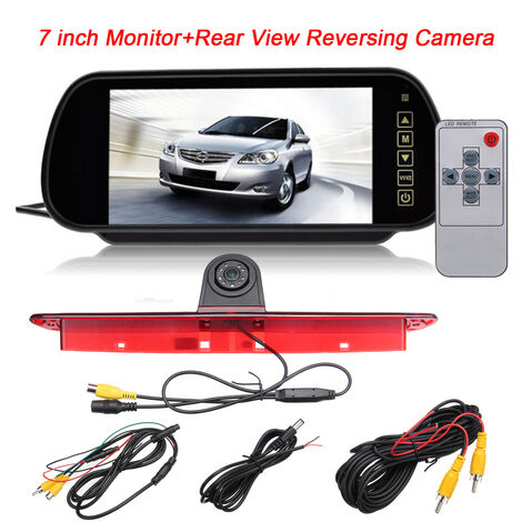 7 Inch Rear View Camera LCD Rearview Mirror Monitor Kit For Mercedes Sprinter VW Crafter