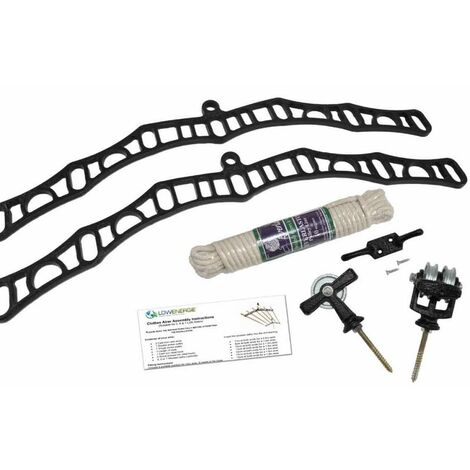 7 Lath Victorian Black Clothes Airer Kit - Choice Of Wooden Lath Lengths - 0.9m