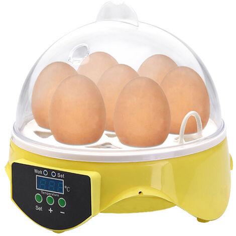 7 Oeufs Menage Automatique Incubateur D'Oeufs Controle De Temperature Eclosoir Pour Eclosion De Poulet Canard Oiseau Oeuf De Caille