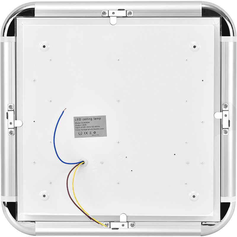 Hommoo - 7 PCS 36W 45 * 45CM Warmweiß i6 Slim Typ 220V Deckenleuchte LLDUK-XJ4545N220V-NPX7