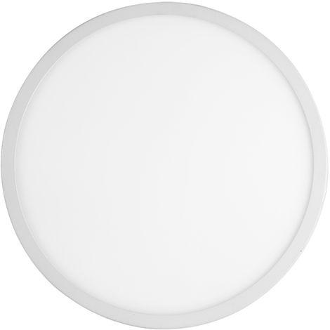 7 PCS Panel de luz redondo blanco frío de 20W