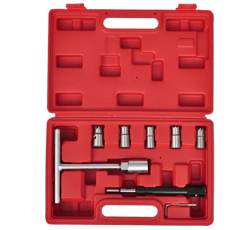 Set de cortadores de conjunto de inyector diesel 7 piezas - Vidaxl