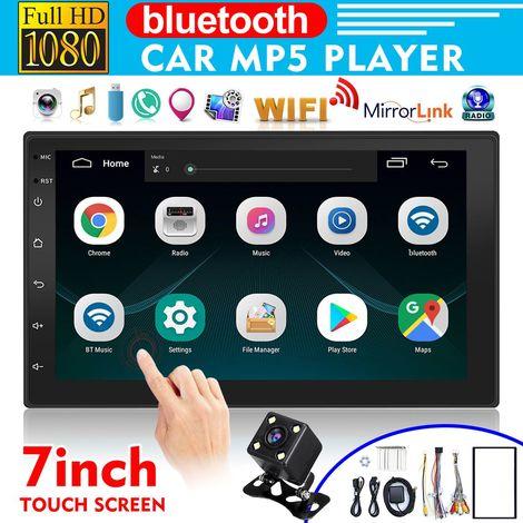 7 Pouces Autoradio 2 Din Android 8.1 Lecteur de Voiture ¨¤ ¨¦cran Tactile Radio St¨¦r¨¦o bluetooth GPS FM