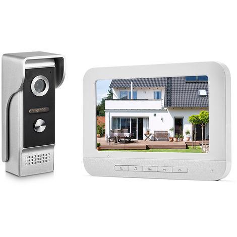 7 pulgadas TFT-LCD color de la pantalla de video telefono de la puerta del intercomunicador del timbre del kit
