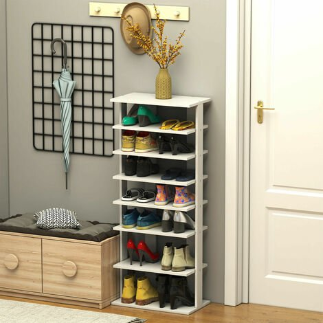 """main image of """"7-tier Double Shoe Storage Tower Organiser Unit Home Display Shelf Rack Stand"""""""