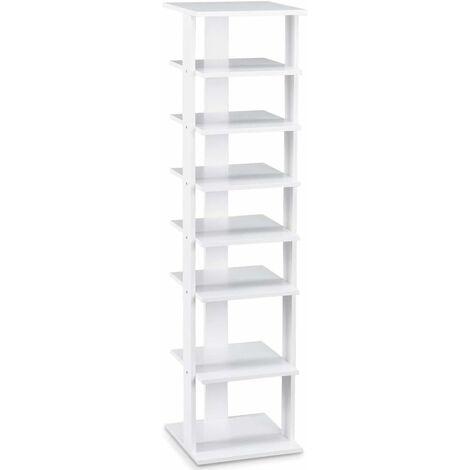 7-tier Single Shoe Storage Rack Stand Organiser Unit Shoe Shelf Home Wood
