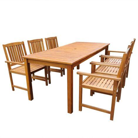 XXL Gartengarnitur Sitzgarnitur Massiv-Holz Gartenmöbel 3tlg SET Terrassenmöbel