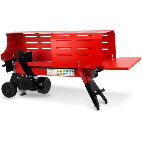 7 Tonnen Holzspalter (2200 Watt Elektromotor, 520 mm Spaltweg, Ø 250 mm, liegend, Transporträder) Holzspaltmaschine Brennholzspalter