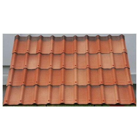 7 unds teja asfáltica 2.17 m², Onduvilla rojo fiorentino 3D